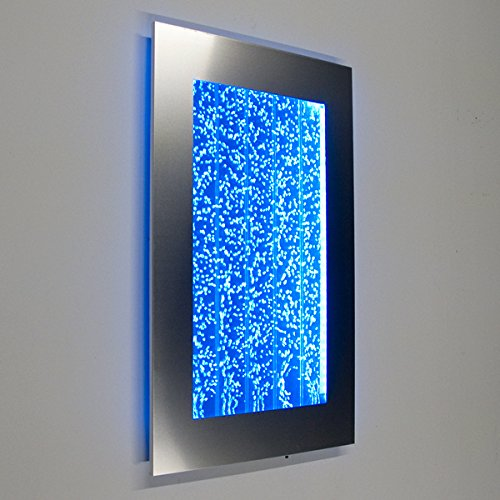 Wall Mount Hanging Bubble Wall Aquarium 30 LED Lighting Indoor Panel 300WM Water Fall Fountain