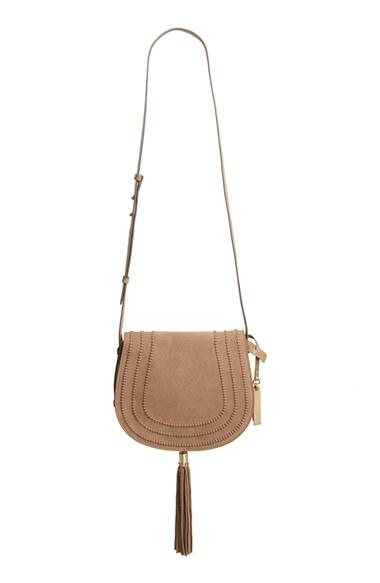 Vince Camuto 'Izzi' Tassel Leather & Suede Crossbody Bag $248
