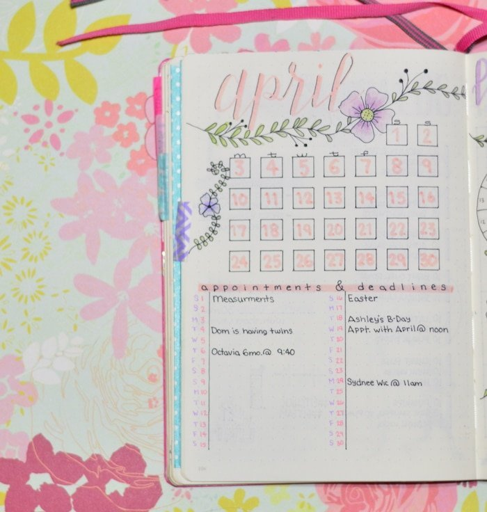 My Bullet Journal April Setup The Petite Planner