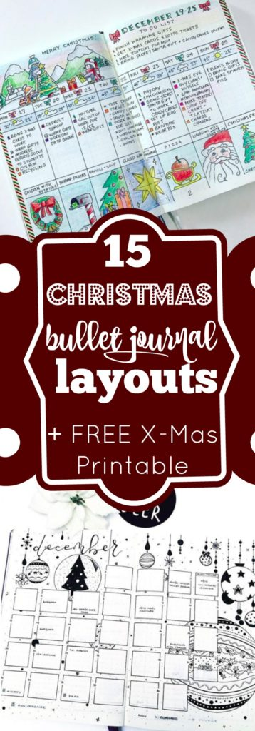 15 Christmas Bullet Journal Layout Ideas FREE Printable