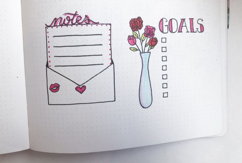 February 2018 Bullet Journal Inspiration Amp Free Printable