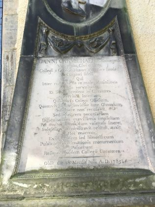Inscription for John Carmichael. – Photo (c) PK, May 2016.