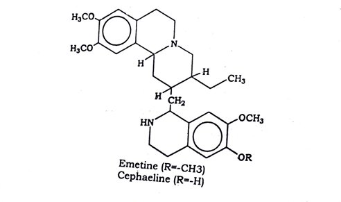 Ipecacuanha Chemical constituents