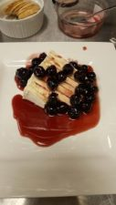 Amarena cherries on Delice de mon Sire triple cream