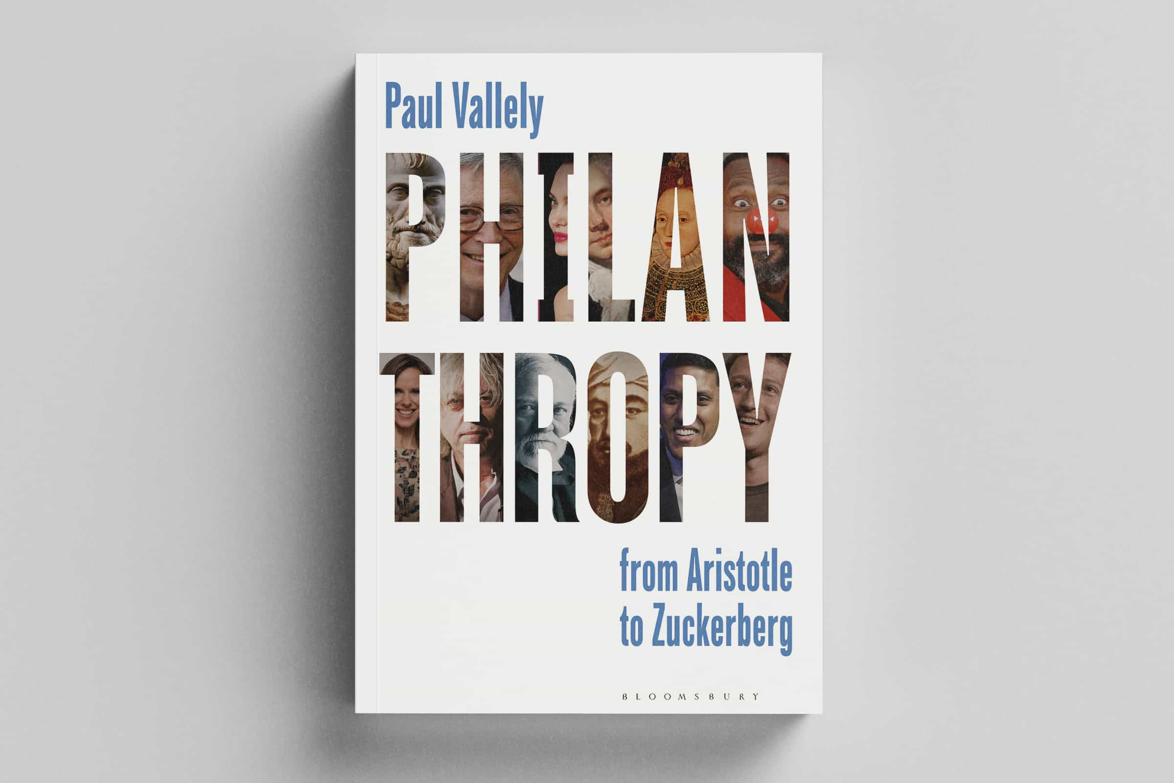 Book cover of Philanthropy: from Aristotle to Zuckerberg.