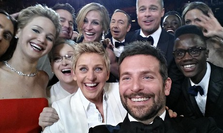 Ellen DeGeneres group Oscar selfie