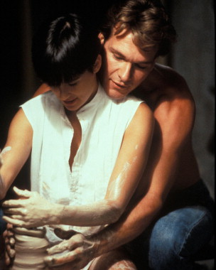 Stars DEMI MOORE and PATRICK SWAYZE. Licenced by Channel 5 Broacasting. Contact Five Stills: 0207 550 5583/5509/5544. Free for editorial press and listings use in connection with the current broadcast of Channel 5 programmes only. This. image may only be reproduced with the prior written consent of Channel 5. All rights reserved. Not for any form of advertising, internet use or in connection with the sale of any product.