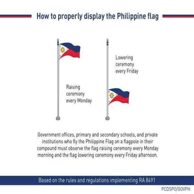 philippine flag raising ceremony