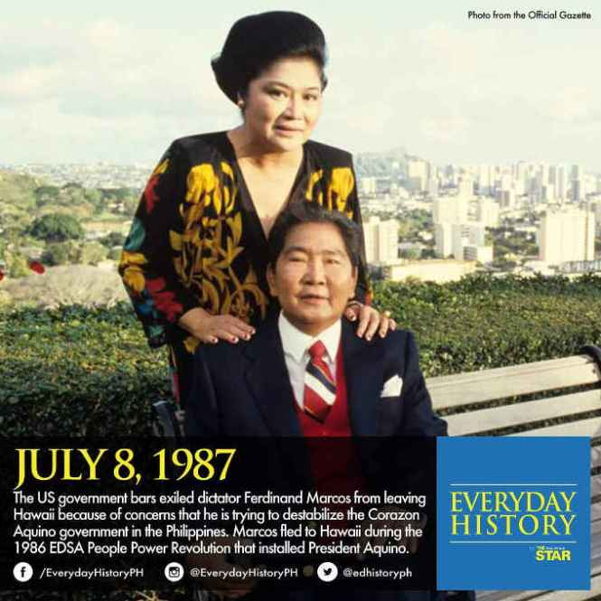 Ferdinand and Imelda Marcos July 8 1987