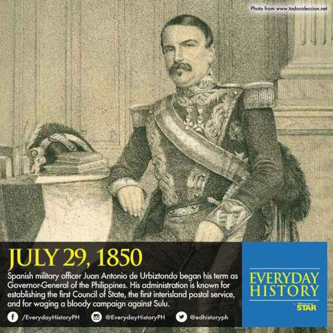 july 29 1850 juan antonio de urbiztondo