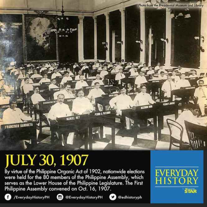 philippine assembly july 30 1907