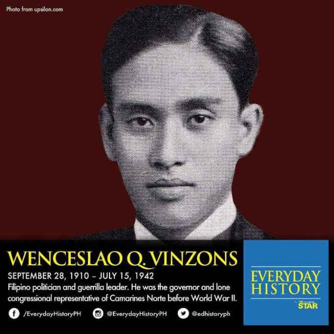 wenceslao q vinzons july 15 1942
