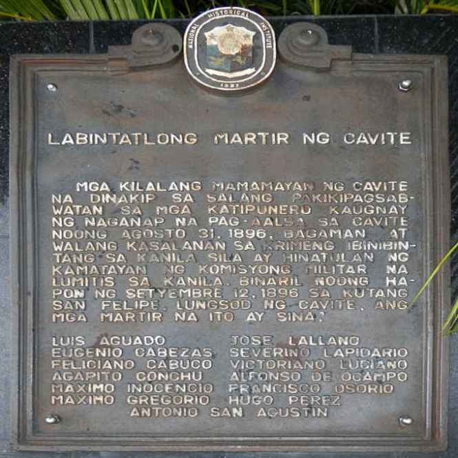 13 martyrs of cavite september 12 1896