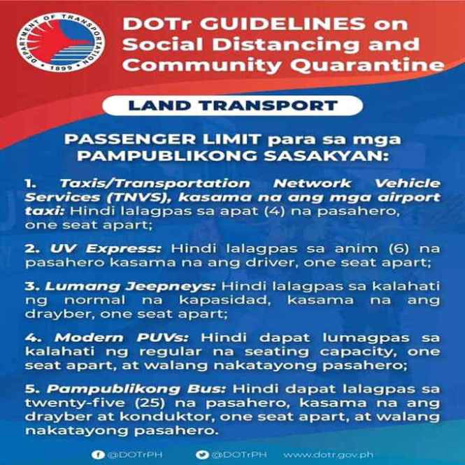 dotr guidelines on social distancing