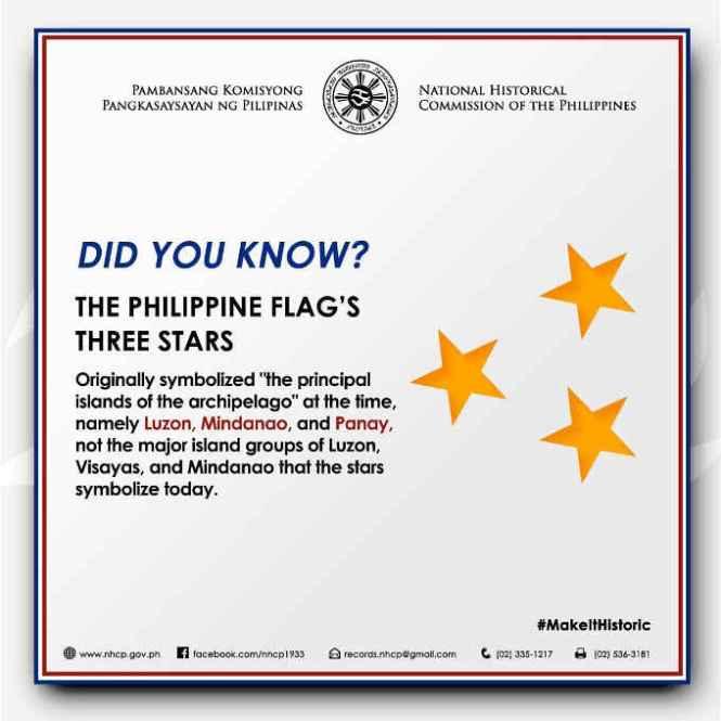 philippine flag's 3 stars