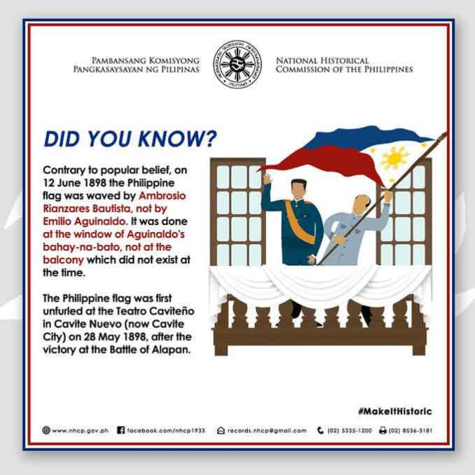 little known fact about the philippine flag