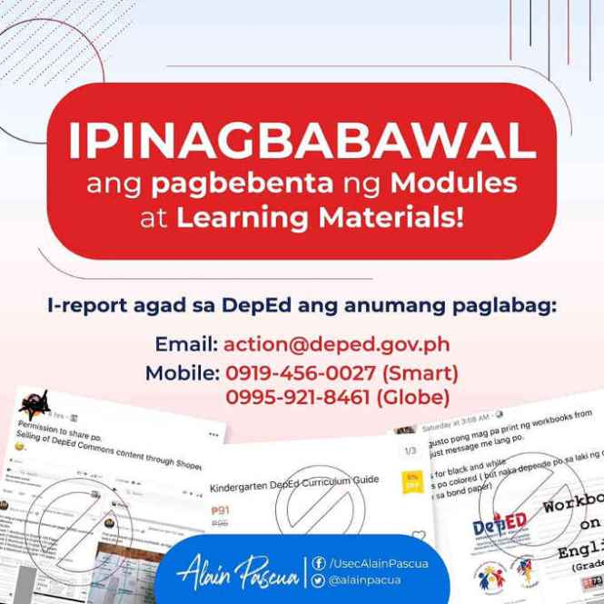 deped modules and learning materials