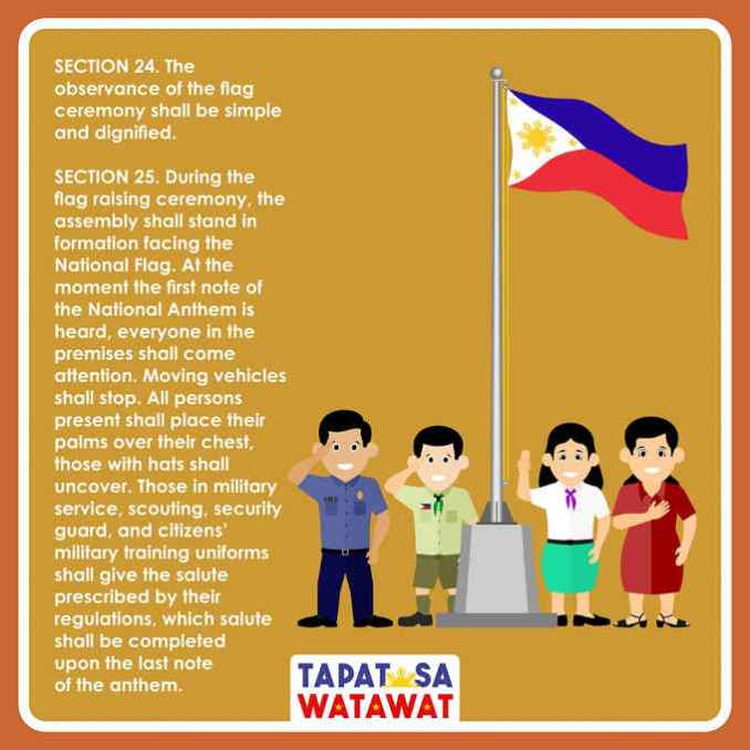 observance of flag ceremony