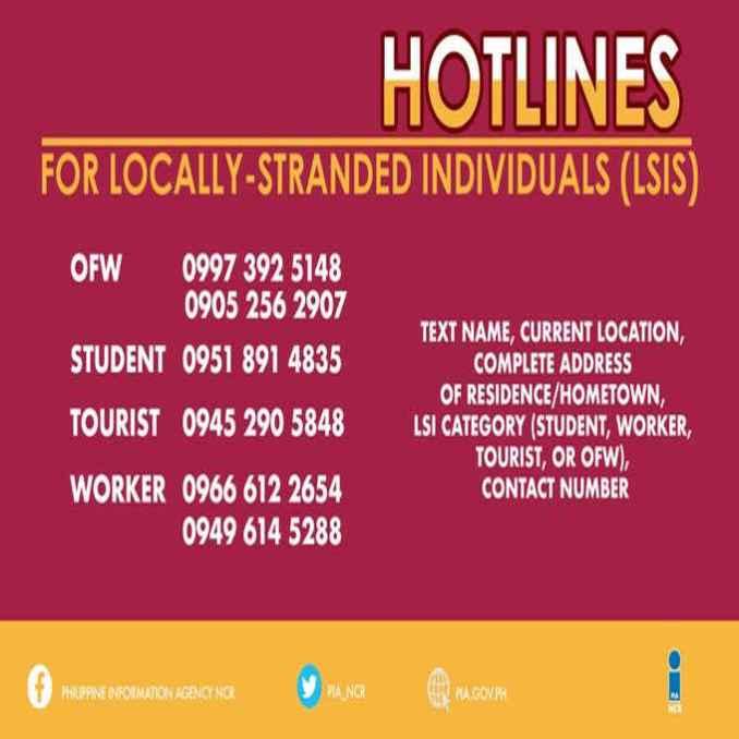 locally stranded individuals hotlines