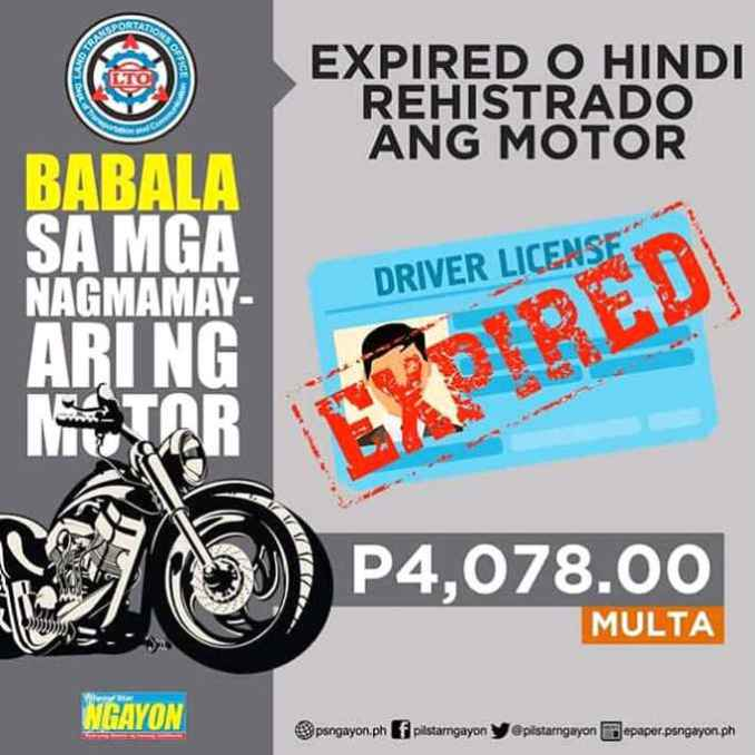 driving with expired license philippines