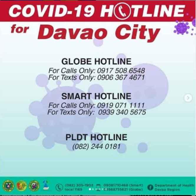 davao city emergency hotlines