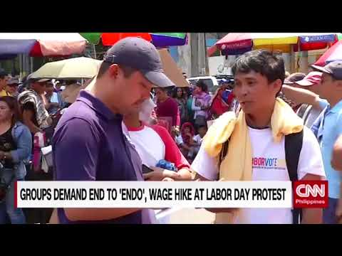 Groups demand end to 'endo', wage hike at Labor Day protest