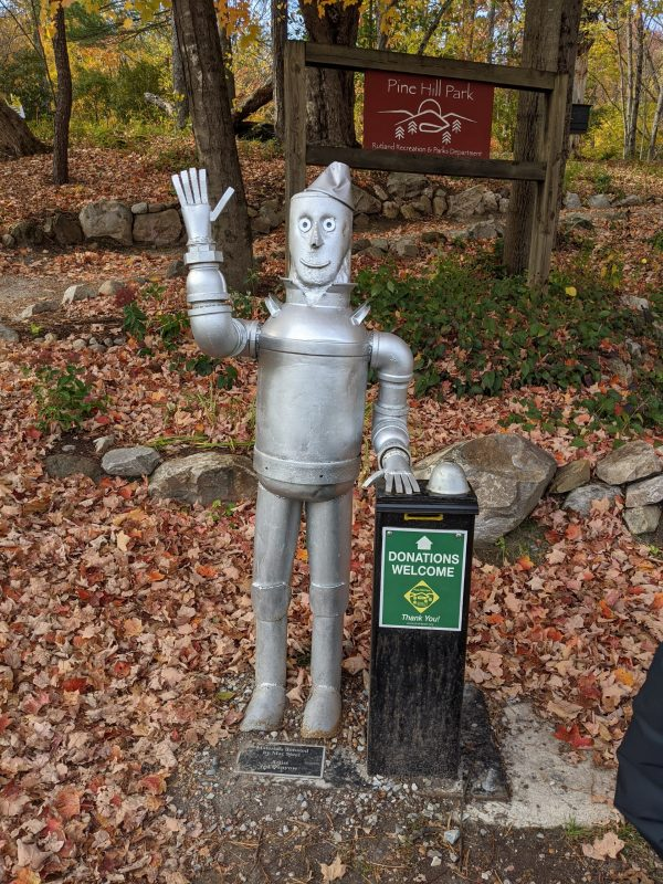 The Tin Man at Pine Hill Park