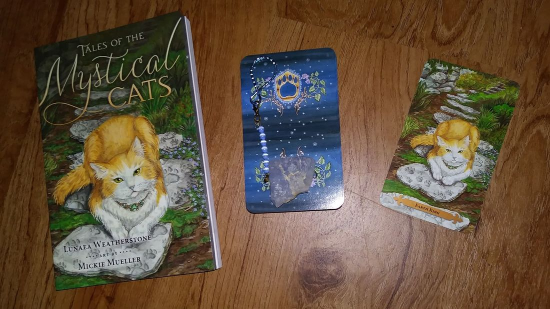 Earth King (King of Pentacles) Mystical Cats Tarot Card