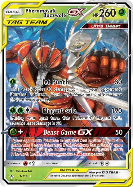 Pheromosa and Buzzwole Tag Team GX – A Pokemon TCG Card Review