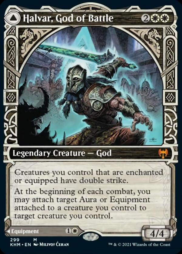 Halvar, God of Battle / Sword of the Realms – A Magic the Gathering Card Review