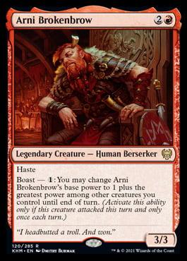 Arni Brokenbrow – A Magic the Gathering Card Review