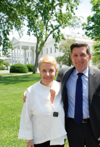 Harriet Rossetto and Michael Botticelli, director, National Drug Control Policy. Photo courtesy of The White House Office of National Drug Control Policy.