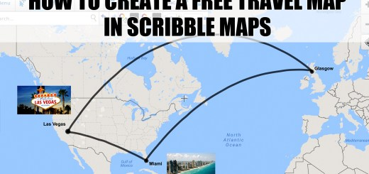 how to create a travel map in scribble maps tutorial video