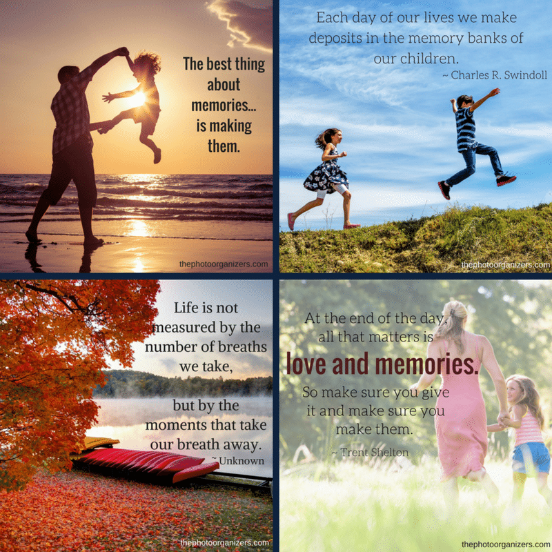 Pictures Make Memories Quotes: Photo Organizers: Quotes About Memories
