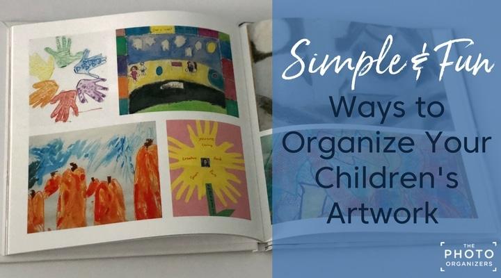 simple fun ways to organize your children s artwork the photo