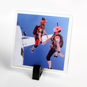Personalised Coaster of 2 people skydiving