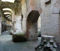 Chambers below ground in the Anfiteatro Flavio in Pozzuoli