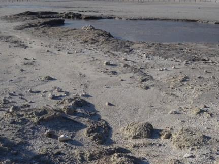 Grey, bubbling mud at La Solfatara in Pozzuoli
