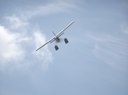 Remotely controlled plane on Lago di Patria