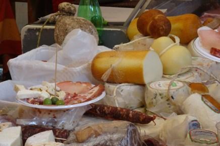 Hams, salami and cheeses