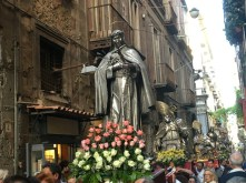 Procession of San Gennaro and saints in Naples, Italy