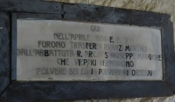 Details of remains moved into the Cimitero delle Fontanelle in Naples, Italy