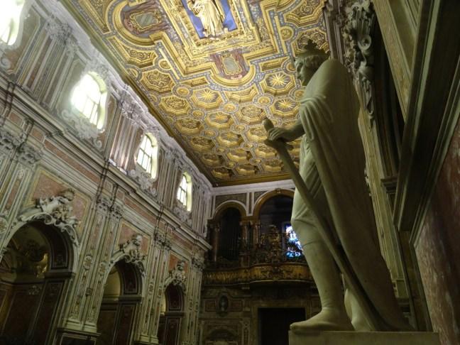 The statue of Conradin (Corradino) in the Church of San Carmine in Naples, Italy