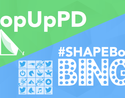 PopUpPD and SHAPEBoston Bingo