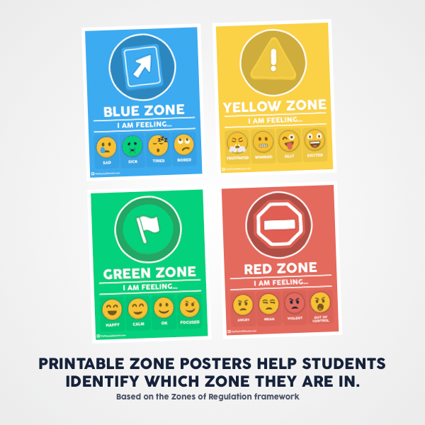 graphic about Zones of Regulation Printable named The Inner thoughts Toolbox Trainer Pack -