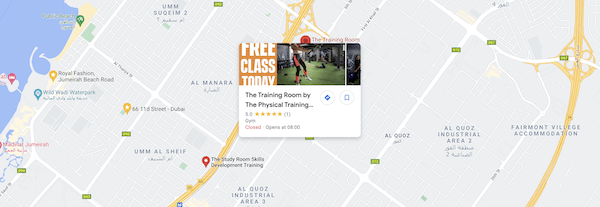 Map to The Physical Training Company