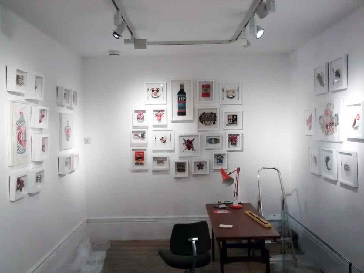 A gallery install for Kate Jenkins' exhibition in Brighton.