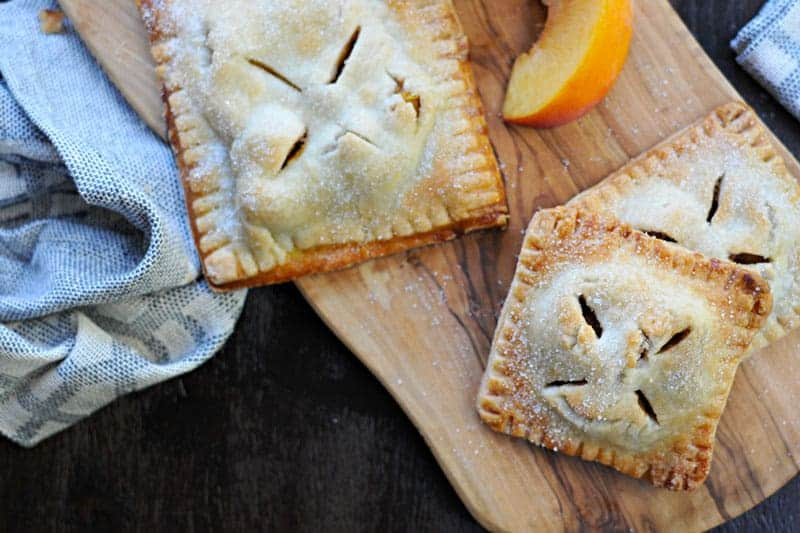 curried peach hand pies recipe | via thepigandquill.com #summer #fruit #baking