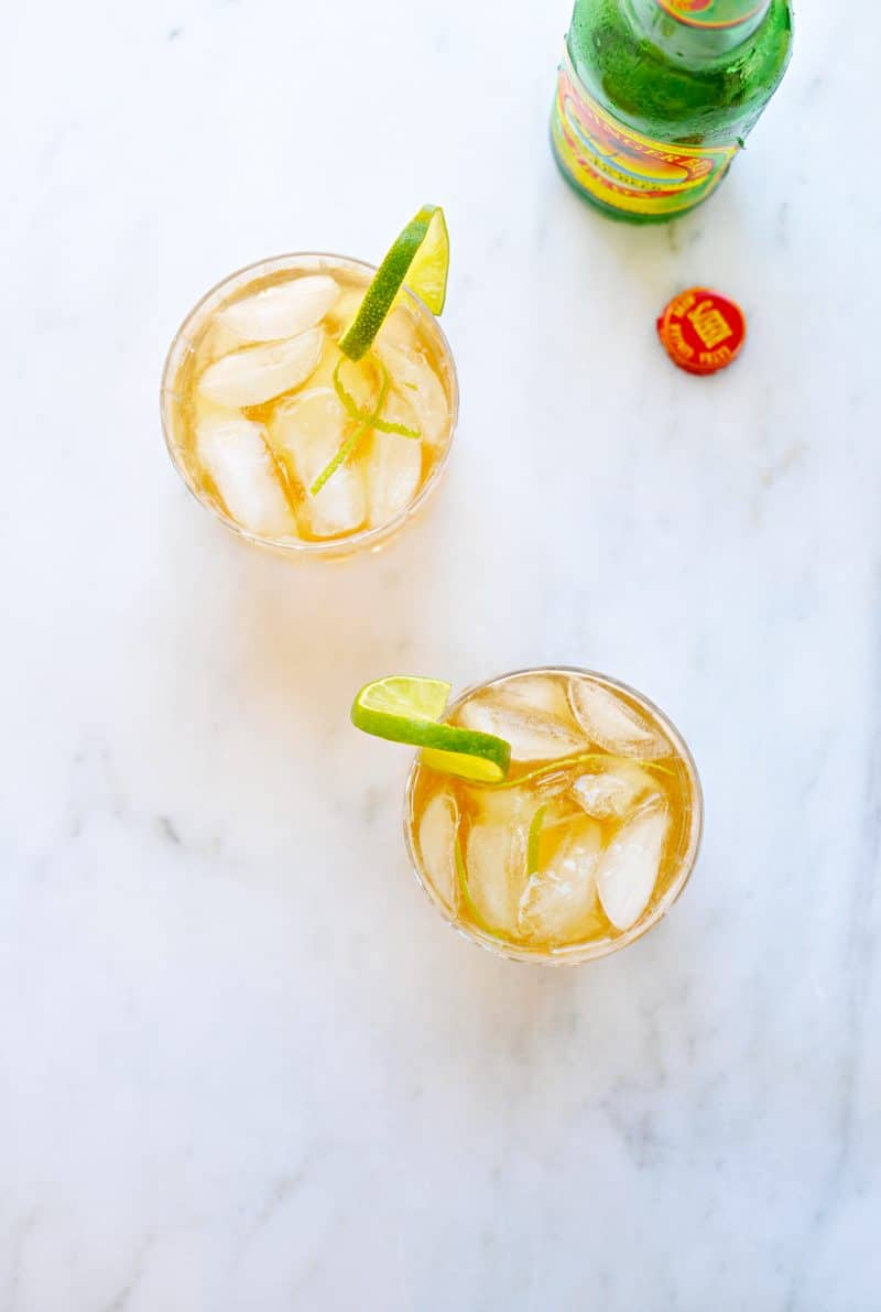 Gingered Mint Tea Sparkler recipe (via thepigandquill.com) #nonalcoholic #mocktail #summer