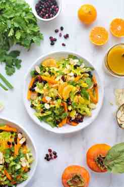 Ultimate Fall Chopped Salad with Honeyed Tangerine-Turmeric Vinaigrette (via thepigandquill.com) #vegetarian #vegan #dairyfree
